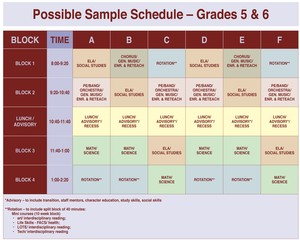 This schedule is located on page 2 of the PowerPoint.