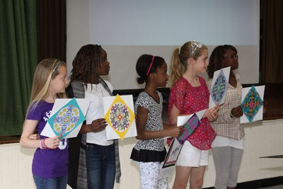 Students at Robert Graves Elementary School presented their art work prior to the Budget Forum.