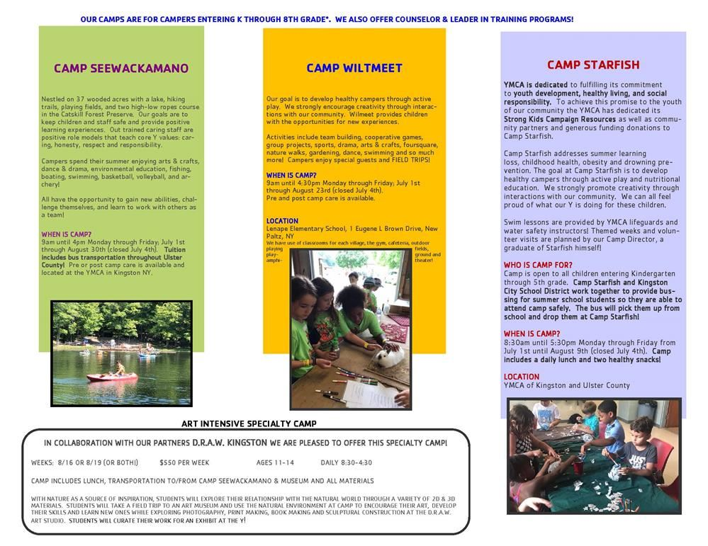 YMCA Summer Camp Information