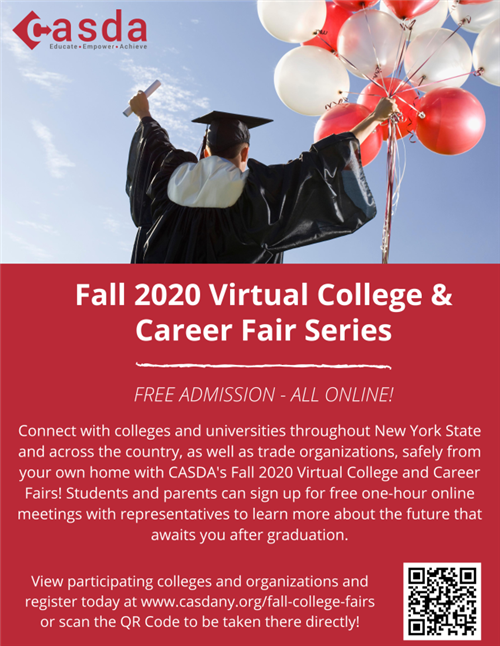 2020 Virtual College and Career Fair Flyer