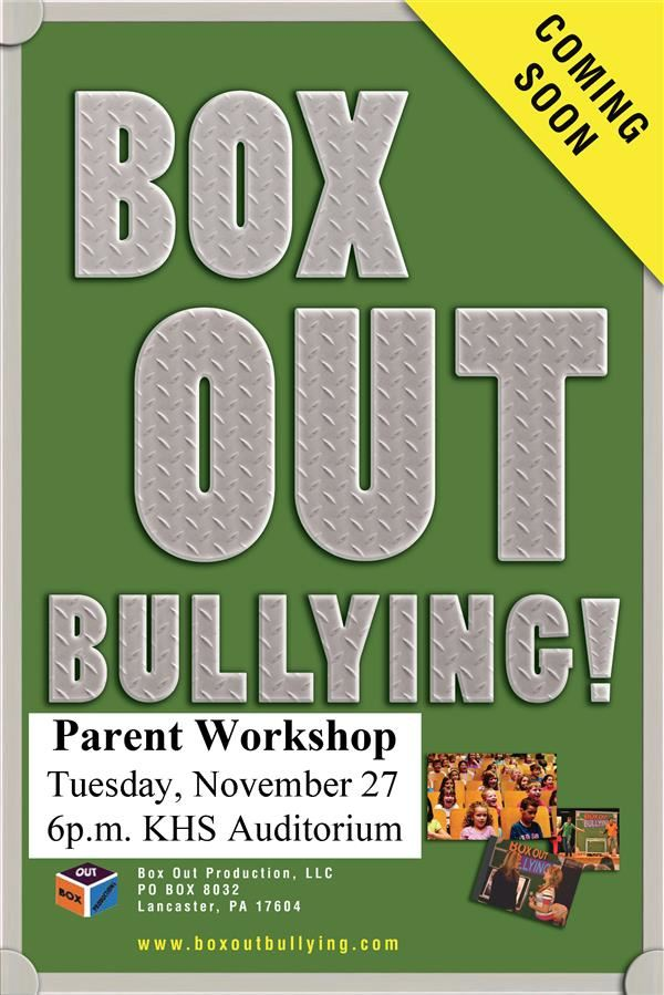 Box Out Bullying Parent Workshop