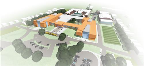 Overview of the new KHS campus