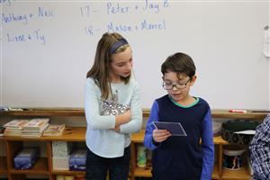 Crosby students reading challenge questions
