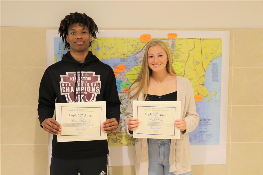 "Two KHS Seniors Receive Triple ""C"" Award"