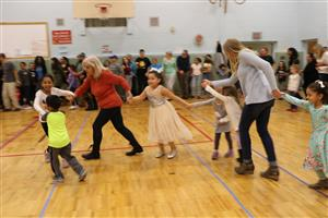 Edson students and parents participate in Folk Dance Night