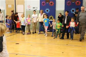 Edson students and families at Folk Dance Night