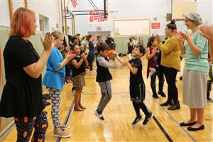 Edson students dance at Family Folk Night