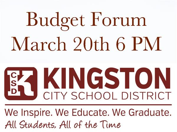 KCSD Budget Forum 3/20: Community Welcome!