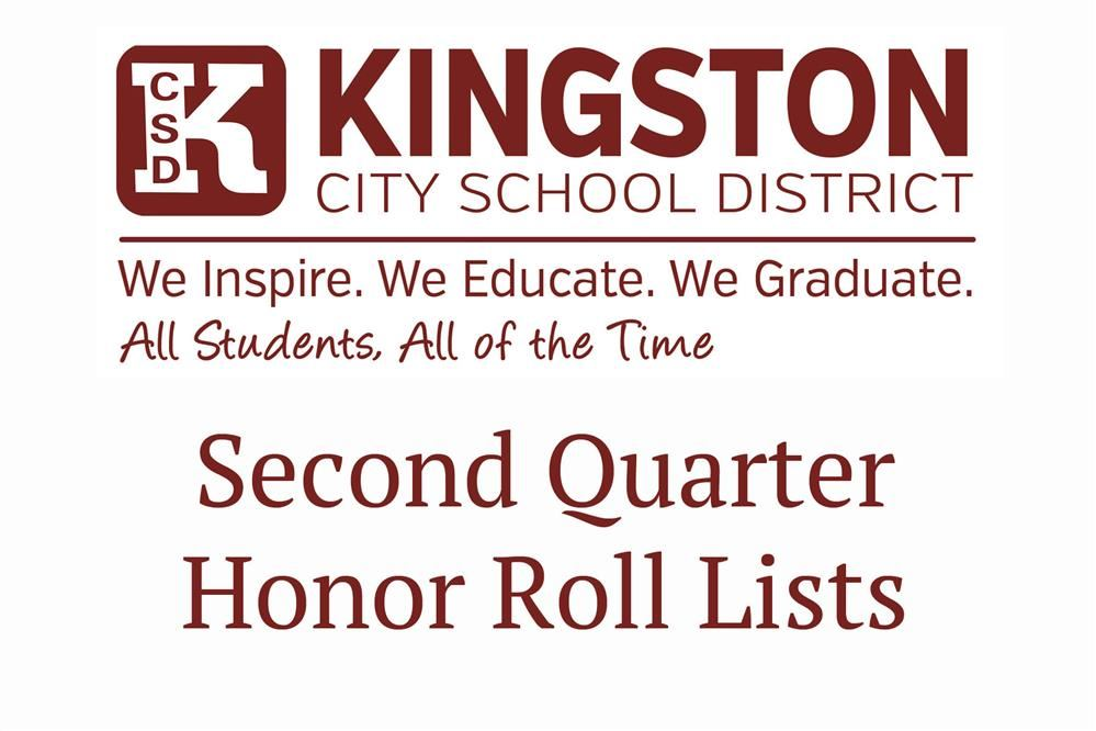 Second Quarter Honor Rolls - Congrats!!