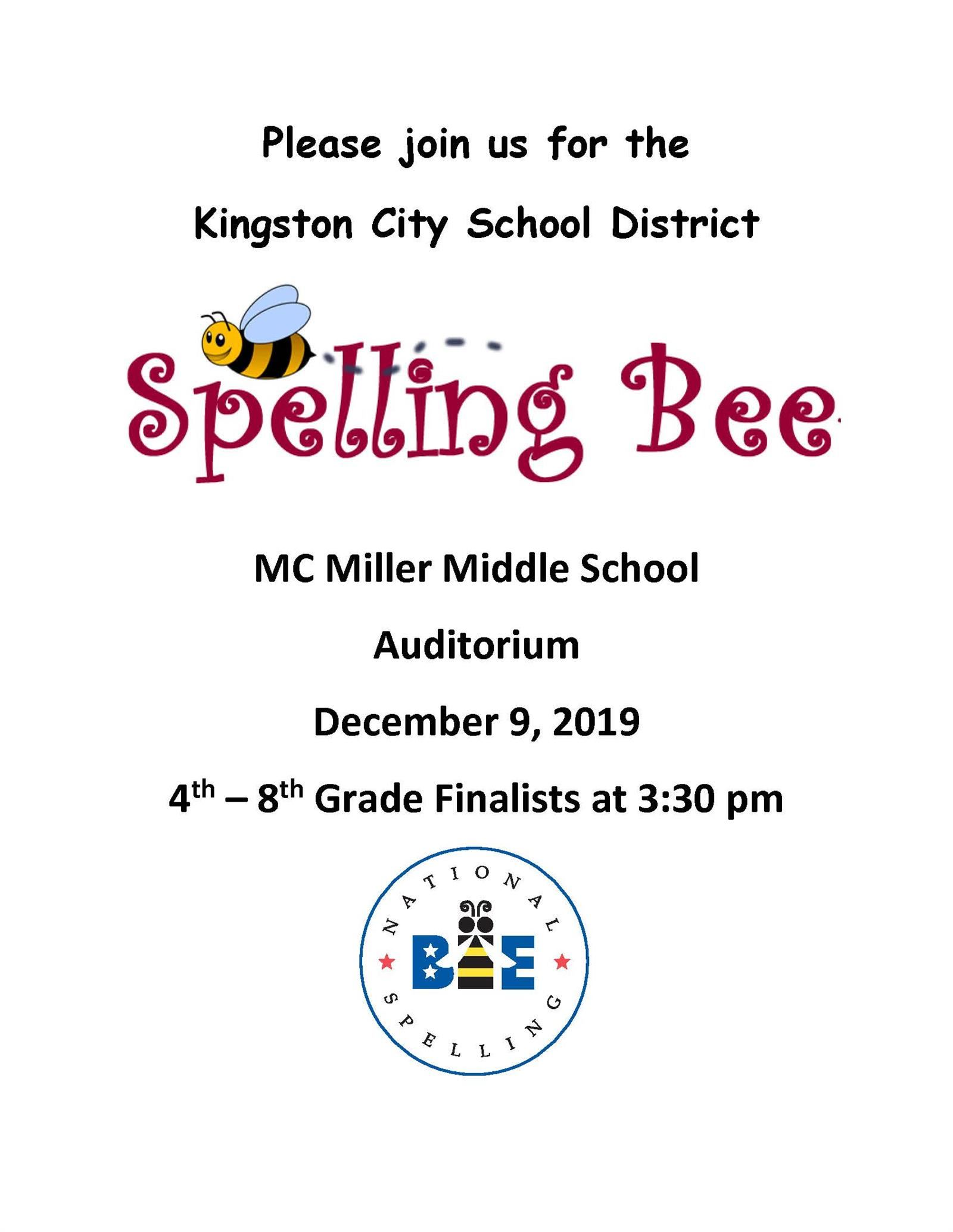Annual Spelling Bee Flyer