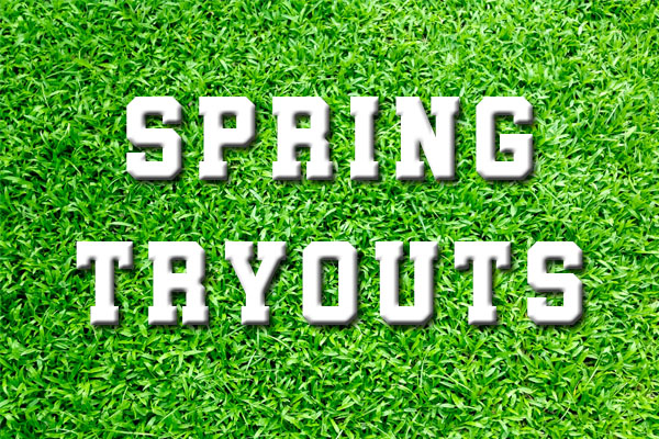Spring Sport Tryouts Begin March 9