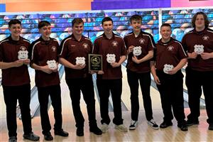 Boys Bowling Team after winning Section 9 Tournament